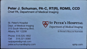 PETER J SCHUMAN-CHIEF PA, DEPT OF MED IMAGING